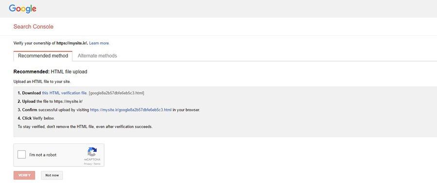 اموزش وب مستر گوگل