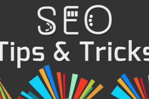 SEO Tips And Tricks Dark Colorful Elements